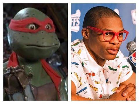 Russell Westbrook Ninja Turtle Frame