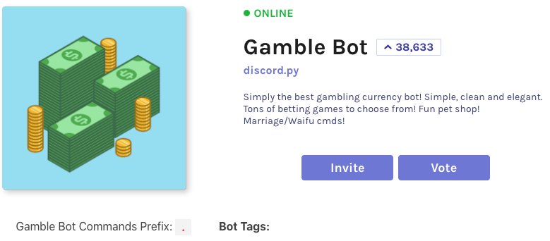 gamble bot is our final choice of gambling bots for discord