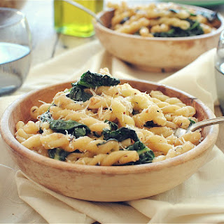 Gemelli Pasta with Garden Greens and Pine Nuts