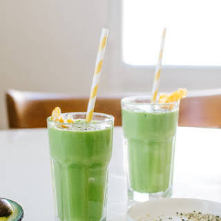 Vegan Tangerine Greensicle Smoothie..