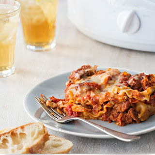 Easy Slow Cooker Sausage Lasagna