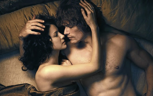 Claire (Caitriona Balfe) and Jamie (Sam Heughan) in the piece of historically accurate soft porn known as 'Outlander'.