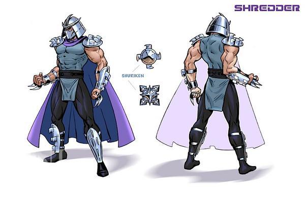 Image result for Shredder with shurikens