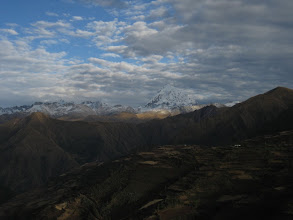 Photo: Our Tour starts - first glances of Salcantay (6271 m.a.s.l)