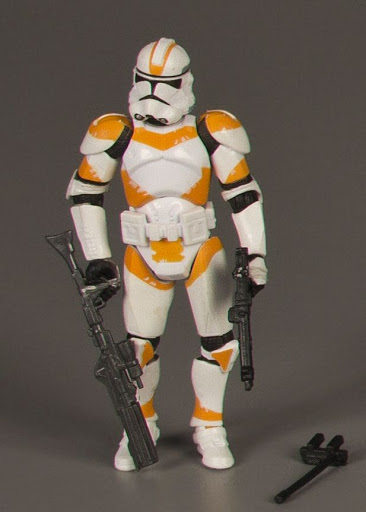 Action figure:Star Wars Legacy: Clone Trooper (Orange)