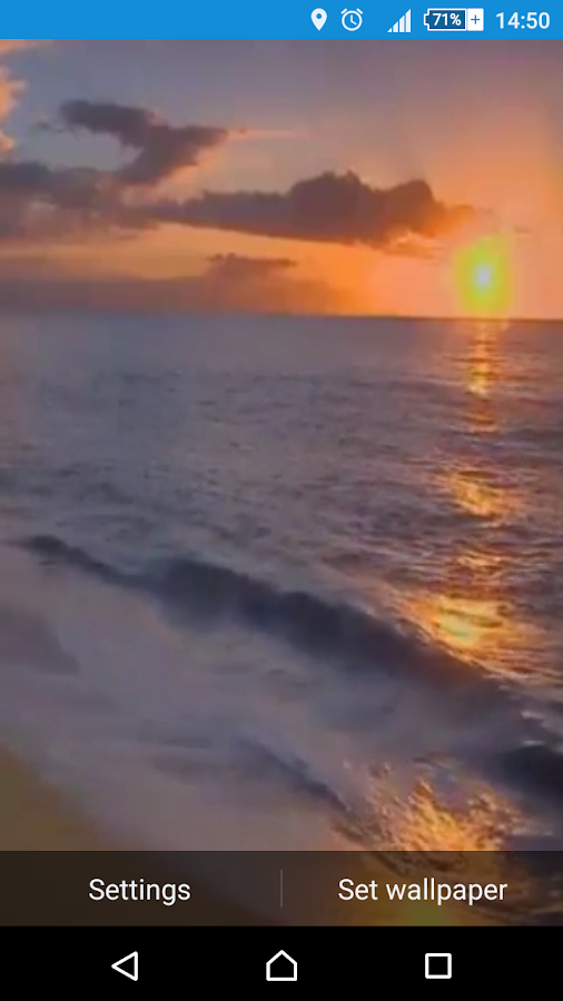 Sunset Beach Live Wallpaper - στιγμιότυπο οθόνης