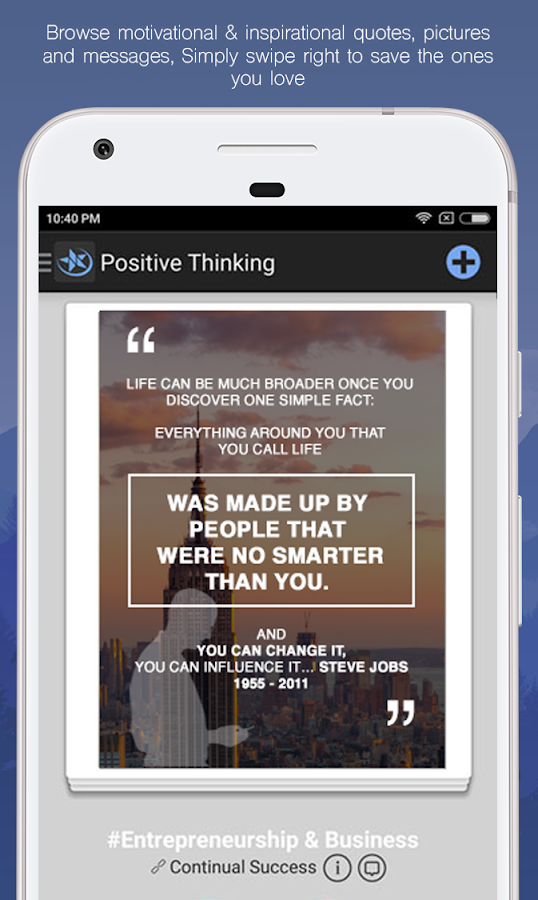 Positive Thinking- screenshot