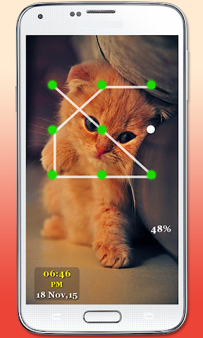 android Kitty Cat Pattern Lock Screenshot 3