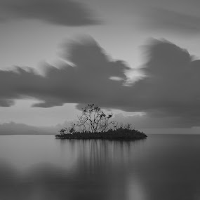 lonely by Faizal Ortho - Black & White Landscapes (  )