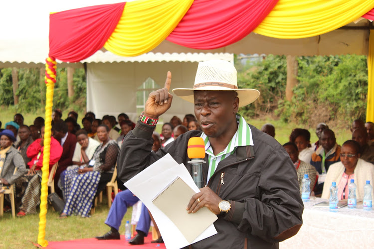 Mathira MP Rigathi Gachagua during a local leaders' forum in his constituency on Saturday