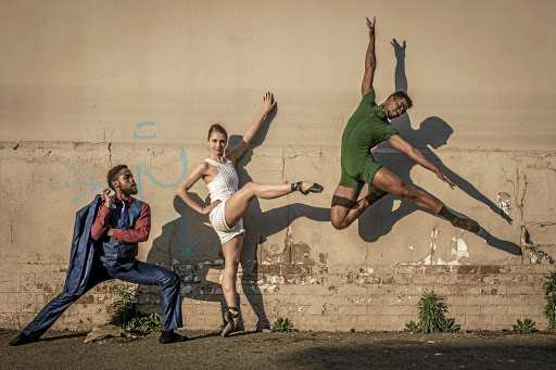 Dance fusion: Eugene Mashiane, Megan Gerber and Ruan Galdino star in Big City, Big Dreams. Picture: LAUGE SORENSE
