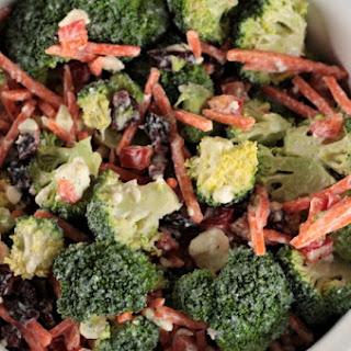 Broccoli Salad with Creamy Feta Dressing.