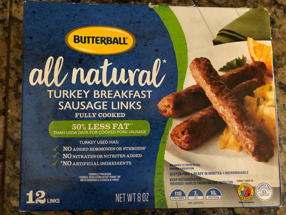 All Natural Turkey Breakfast Sausage Links