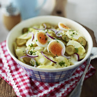 Classic Potato Salad with Mayonnaise.