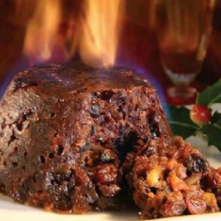An easy Christmas pudding and brandy custard