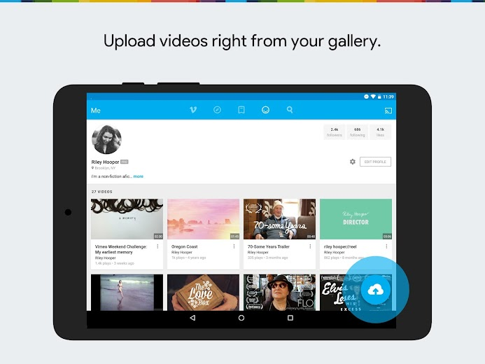 Screenshot 7 for Vimeo's Android app'