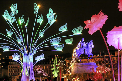 Butterfly effect: Displays at the Illuminarium light festival at the court of the Swiss National Museum in Zurich, Switzerland, in November. The Swiss city of Lausanne will be lit up during the Lausanne Lumieres festival until December 31. Picture: REUTERS