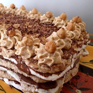 Hazelnut Meringue Mocha Cream Cake