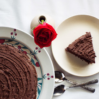 A Healthier Eggless Chocolate Birthday Cake.