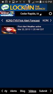 KCRG-TV9 First Alert Weather - screenshot thumbnail