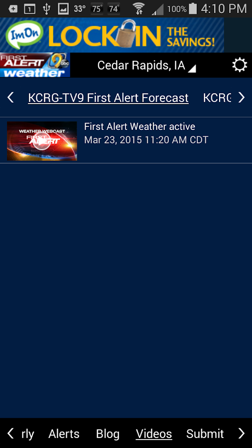 KCRG-TV9 First Alert Weather - screenshot