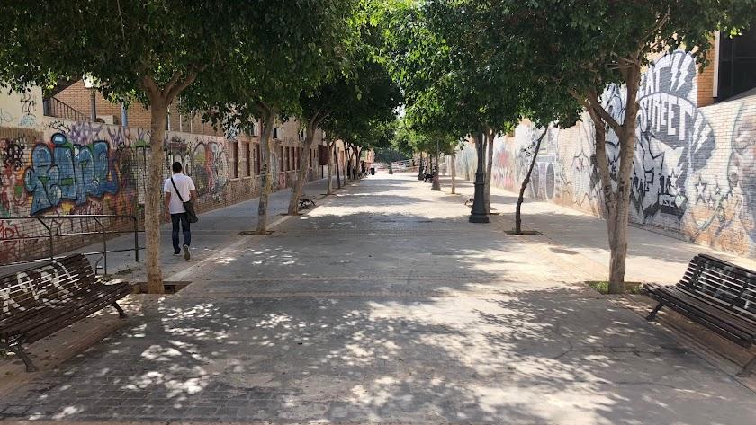 Estado actual de la calle Guadarrama.