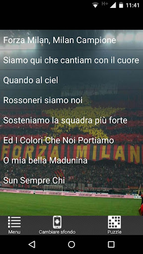 Milan - Canzoni del Tifosi