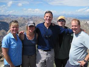 Photo: Mt. Massive summit shot - moi, Cindy, Scott, Bob & Don. 14,421 ft