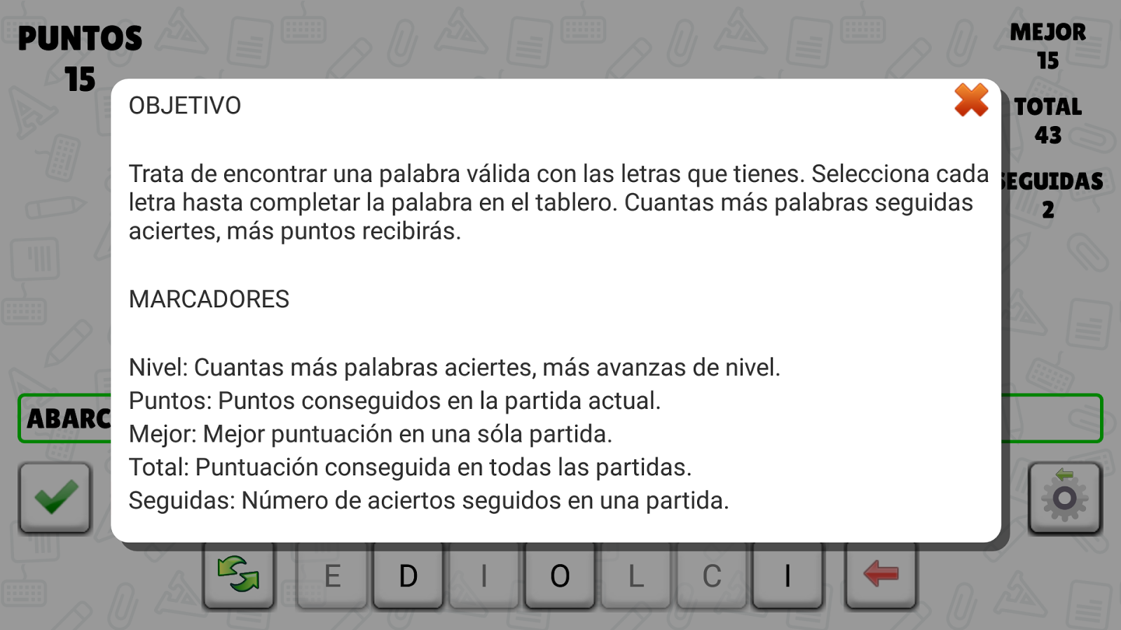 A Pensar Palabras- screenshot