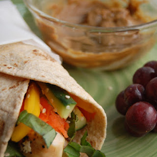 Thai Chicken Wraps.