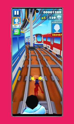 subway Lady Endless jump V3: cat runner noir jogos apktram screenshots 8
