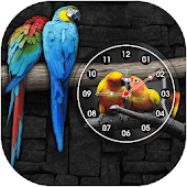 Love Birds Clock Live Wallpaper