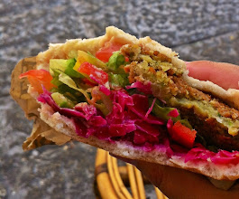 Photo: Falafel sandwich for lunch.