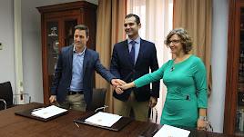 Convenio entre AJE, Cajamar y Ayuntamiento de Almería