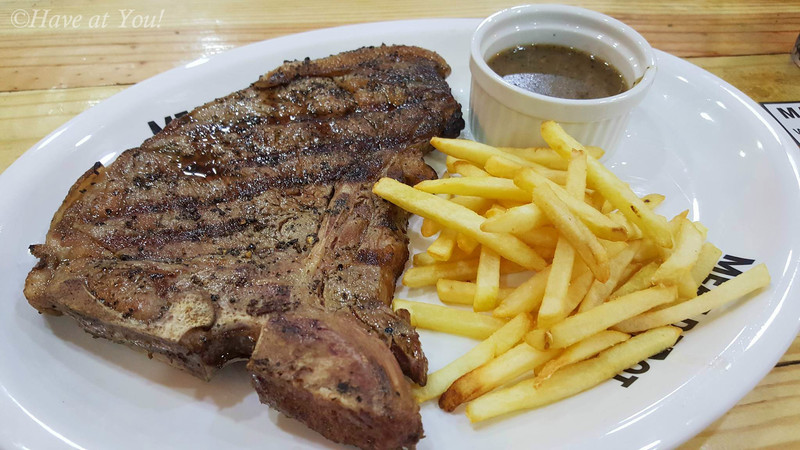 t-bone with fries