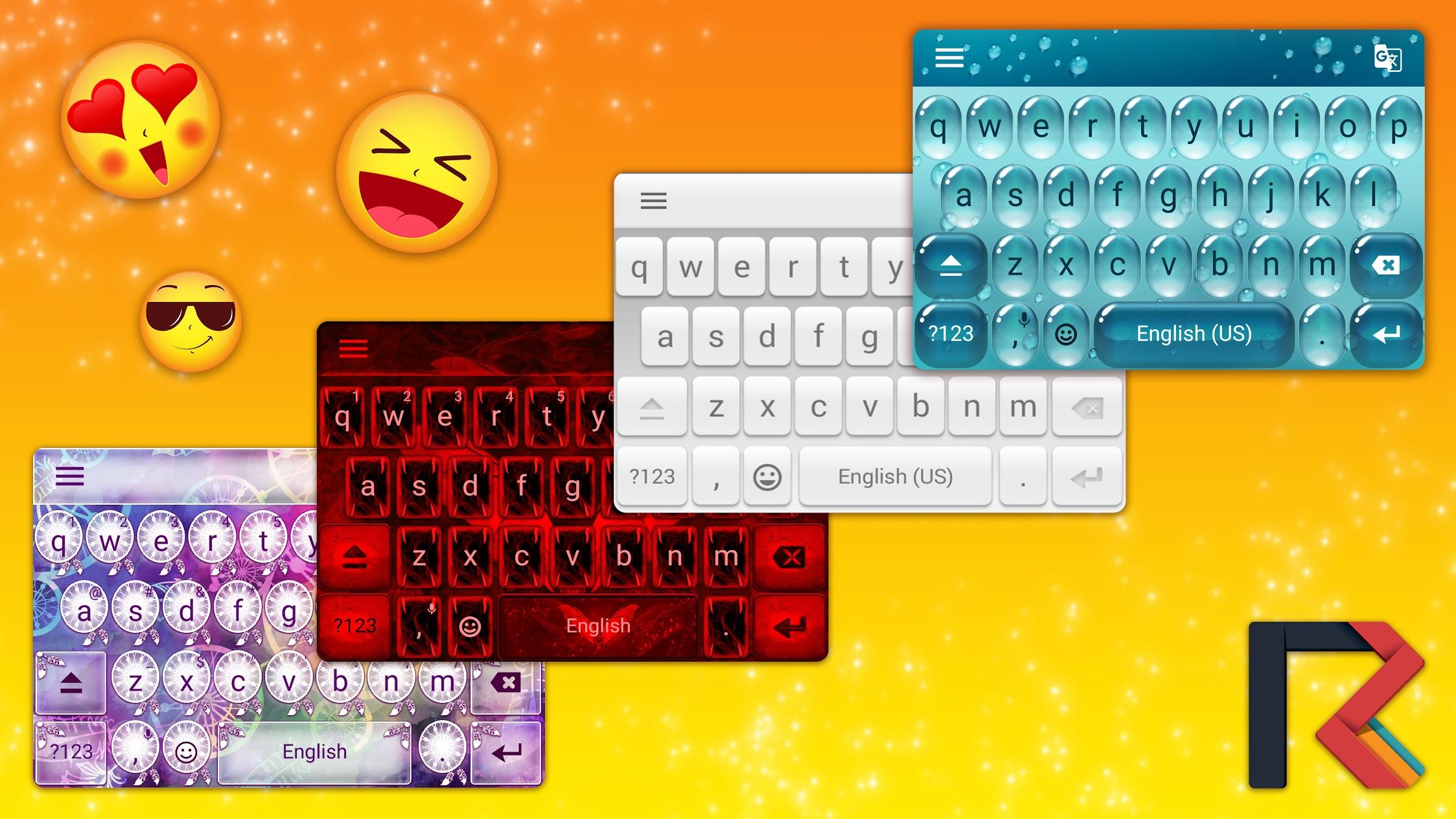 2018 Keyboard, Themes & Stickers