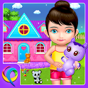 My Baby Doll House - Tea Party & Cleaning Game icon