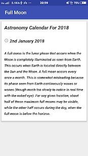 Astronomy Calendar For 2018 - náhled