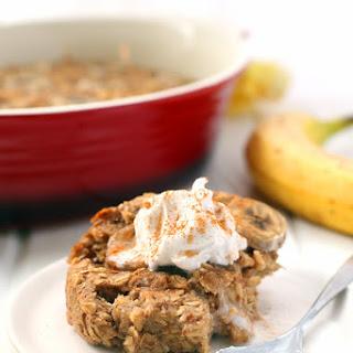 Banana Bread Baked Oatmeal {Vegan + Gluten-Free}