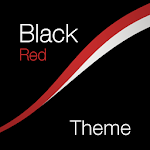 Black - Red Theme for Xperia Icon