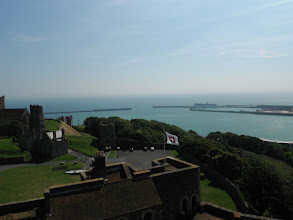 Photo: Dover Harbour from Dover Castle