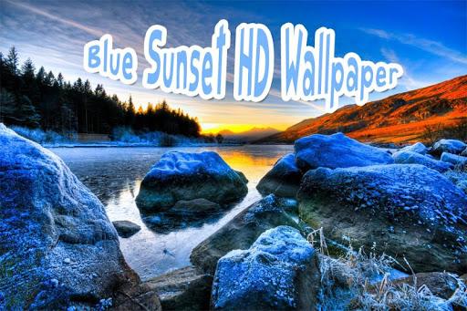 Blue Sunset HD Wallpaper