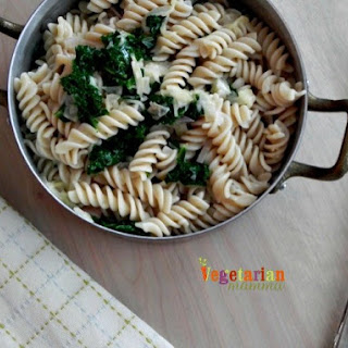 Easy Kale Pasta – A green twist on your typical pasta dinner..