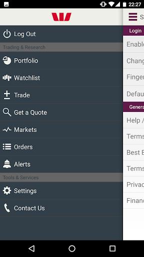 Westpac Online Investing screenshot 1