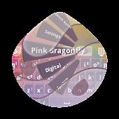 Pink dragonfly GO Keyboard