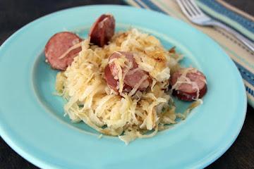 Kielbasa And Fried Buttered Sauerkraut Recipe