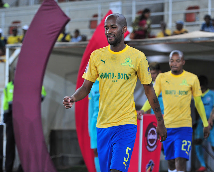 Mosa Lebusa of Mamelodi Sundowns during the Absa Premiership match between Baroka FC and Mamelodi Sundowns at Peter Mokaba Stadium on November 06, 2019 in Polokwane, South Africa.