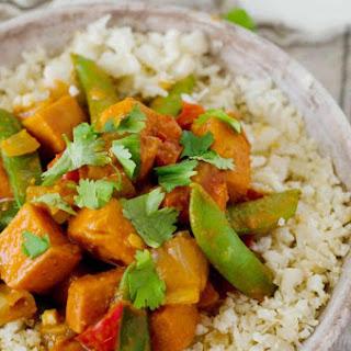 Vegetarian Red Curry Stir Fry.