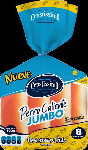 Pan Perro Caliente Crustissimo Jumbo 500gr 8 Unidades Crustissimo