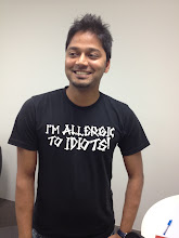 Photo: New guy Vikas makes his Geek Shirt debut